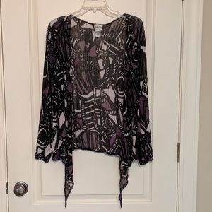 Chico's Open Patterned Cardigan